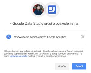 Google Data Studio Połączenie