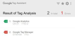 Google Tag Assistant Error