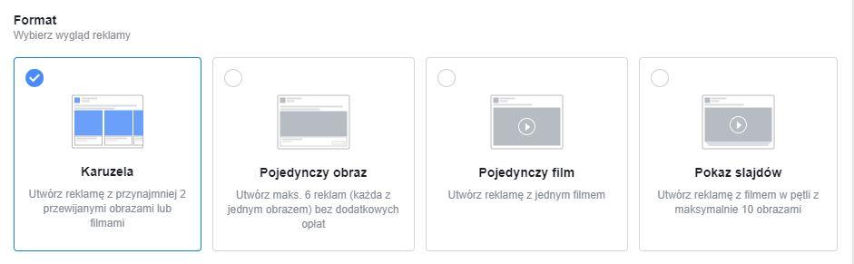 Formaty reklam kontaktowych Facebook Lead Ads