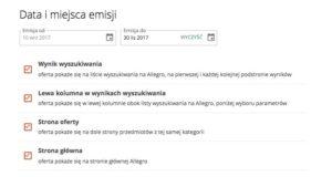 Allegro Ads - rodzaje placementów