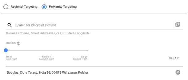 doubleclick bid manager proximity targeting