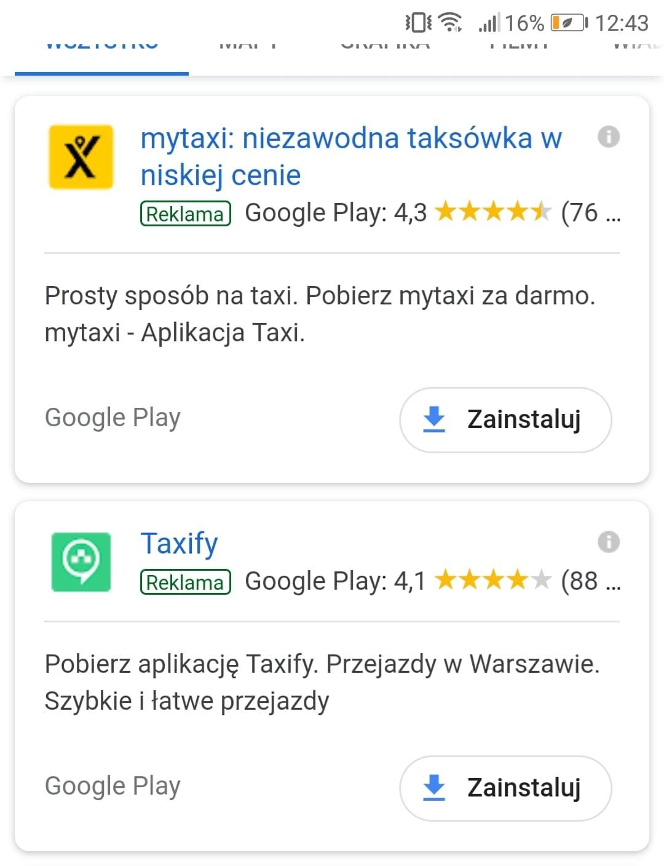 promocja aplikacji w wyszukiwarce