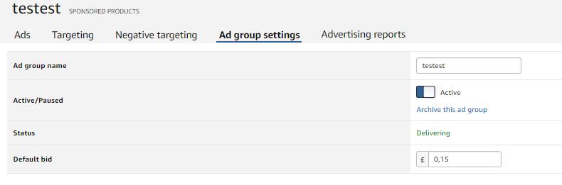 ad group amazon ads
