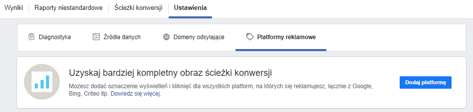 Platformy reklamowe Facebook Attribution