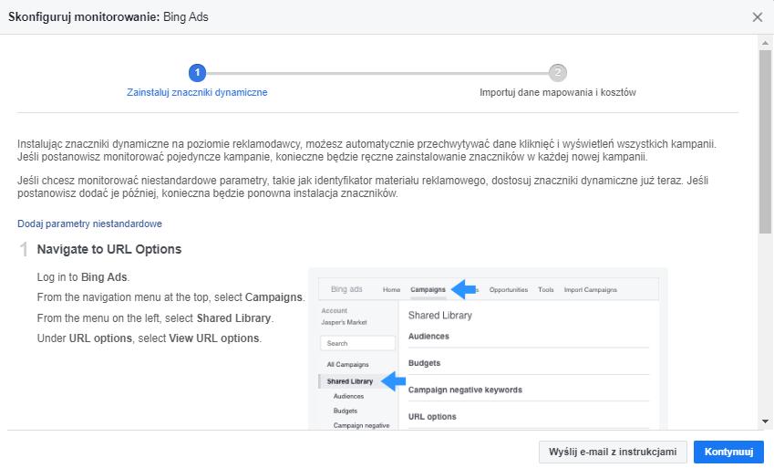 Konfigurowanie Facebook Attribution