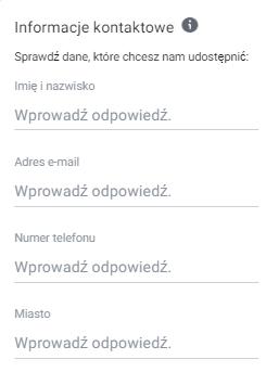 Formularz kontaktowy na Facebooku