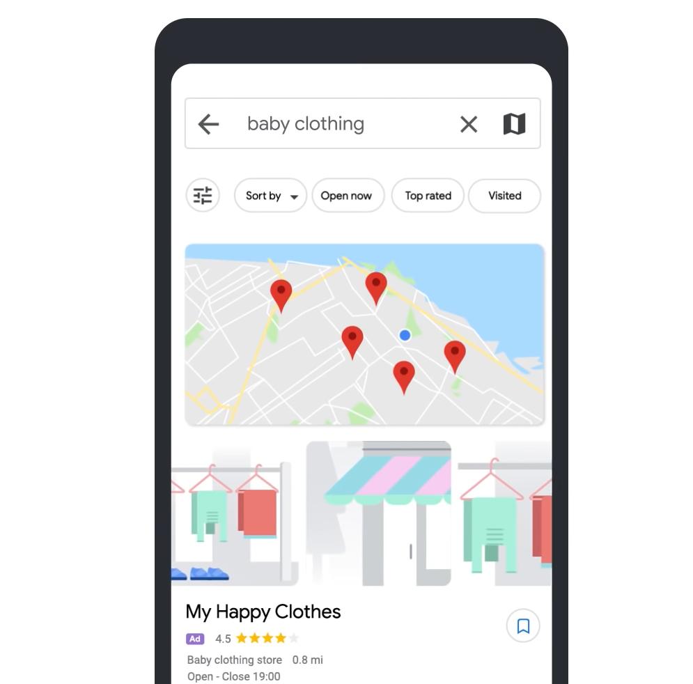 Google Maps - reklama lokalna