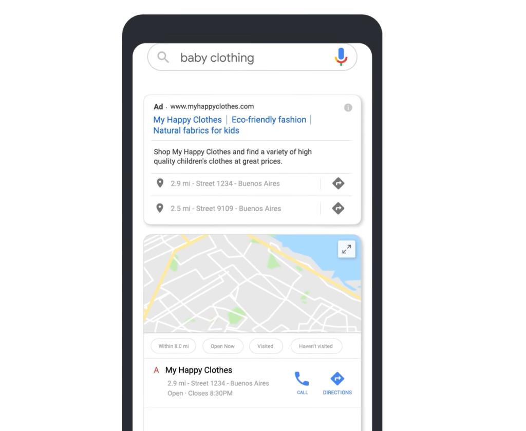 Sieć wyszukiwania - reklama lokalna