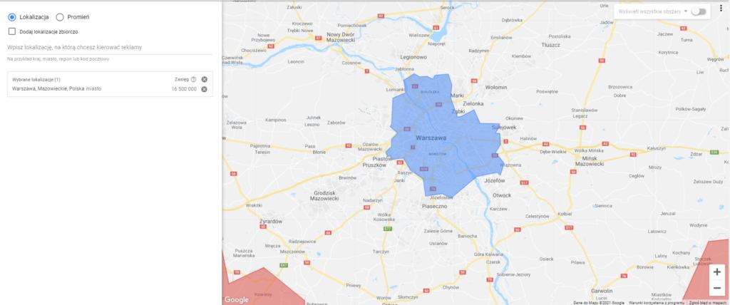 Google Ads - konfiguracja ustawień lokalizacji