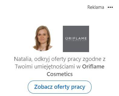Przykład reklamy oferty pracy